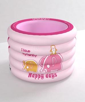 欧培温馨小象粉色圆形游泳池