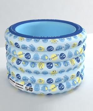 欧培动物朋友圆形游泳池蓝色
