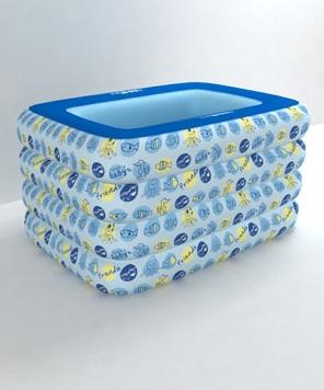 欧培动物朋友方形泳池蓝色