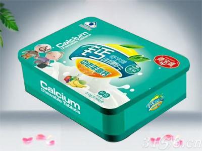 铁盒奇宇牌钙咀嚼片(中老年高钙)